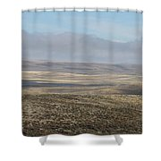 Rolling Gold Shower Curtain