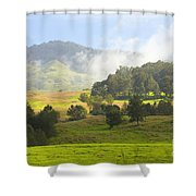 Rolling Green Hills Shower Curtain