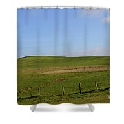 Rolling Hills And Fields Along The Cliff's Of Moher Shower Curtain