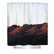 Rolling Hills  Of San Geronimo At Sunset Shower Curtain