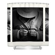 Rolling His Own Shower Curtain by Avalon Fine Art Photography