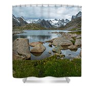 Rolling Mountain Clouds Shower Curtain