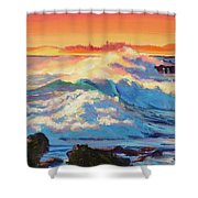 Rolling Ocean Surf - Plein Air Shower Curtain