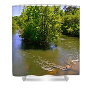 Rolling On The River Shower Curtain