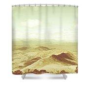 Rolling Rural Hills Of Zeehan Shower Curtain