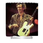 Rolling Stones Keith Richards Painting Shower Curtain