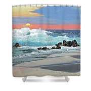 Rolling Surf Shower Curtain