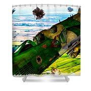 Linebacker II - The Thud - Water Color Shower Curtain