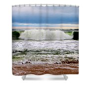 Rolling Tide Shower Curtain