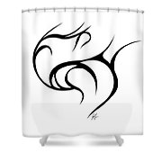 Rolling Tied  Shower Curtain
