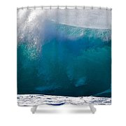 Rolling  Wave At Haleiwa Shower Curtain