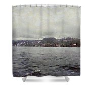 Rolling Waves In A Swiss Lake Shower Curtain