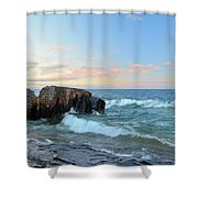 Rolling Waves On Superior Shower Curtain