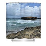 Rolling Waves On The Beach Known As Boca Keto Shower Curtain
