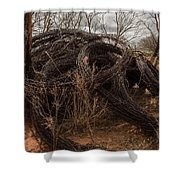 Rolls Of Barbed Wire Shower Curtain