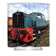 Rolls Royce Sentinel Dl83 Diesel Shunter At The Nene Valley Railway Shower Curtain
