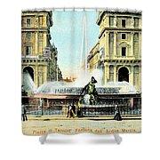 Roma 1900 Piazza Di Termini Shower Curtain