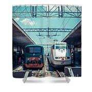 Roma Termini Railway Station Shower Curtain