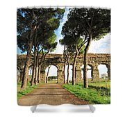 Roman Aqueducts Shower Curtain