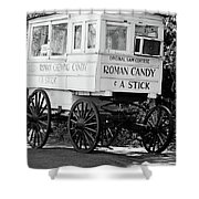 Roman Candy - Bw Shower Curtain