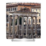 Roman Columns Shower Curtain