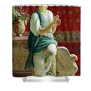 Roman Girl Shower Curtain
