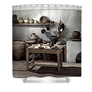 Roman Kitchen, 100 A.d Shower Curtain