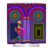Roman Lavender Shower Curtain