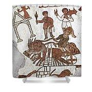 Roman Mosaic: 5th Century Shower Curtain