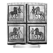 Roman Mosaic: Charioteers Shower Curtain