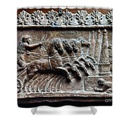 Roman Relief: Chariot Race Shower Curtain