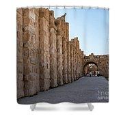 Roman Ruins At Jerash, Jordan  Shower Curtain