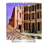 Roman Ruins At Sabrayha Shower Curtain