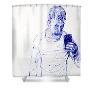 Roman Selfie Shower Curtain