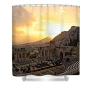 Roman Theater In Taormina IIi Shower Curtain