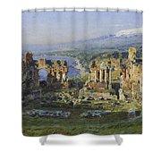 Roman Theatre Shower Curtain