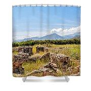 Roman Villa Ruins On Crete Shower Curtain