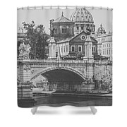 Roman Vintage Views Shower Curtain