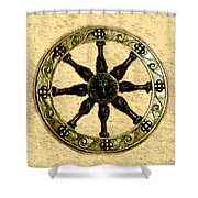 Roman Wheel Shower Curtain