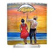 Romance On The Beach Shower Curtain