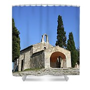 Romanesque Chapel Saint Sixte  Shower Curtain