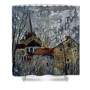 Romanesque Church  Shower Curtain