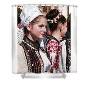 Romanian Beauty - 2 Shower Curtain