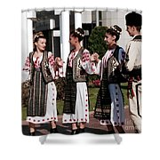 Romanian Beauty Shower Curtain