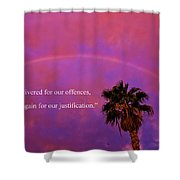 Romans 4 Shower Curtain