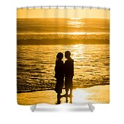Romantic Beach Silhouette Shower Curtain