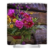 Romantic Bouquet 3 Shower Curtain