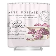 Romantic French Victorian Postcard Shower Curtain