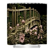 Romantic Garden And Bridge Shower Curtain