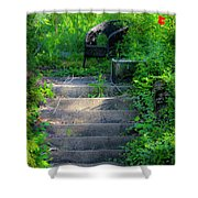 Romantic Garden Scene Shower Curtain